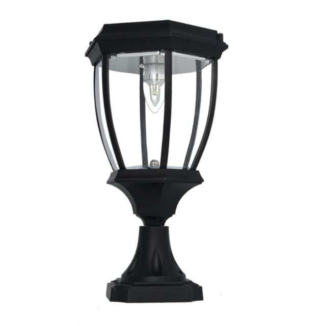 Large Elegant Outdoor Solar Ed Led Garden Yard Pillar Light Lamp Sl 8405