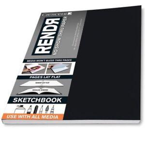 Crescent-Rendr-No-Show-Thru-Lay-Flat-Sketchbook-8-5x11-034-48-sheets