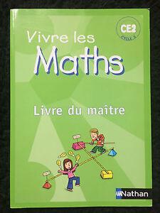 Livre-du-Maitre-Vivre-les-Maths-CE2-Cycle-3-Nathan-100-NEUF