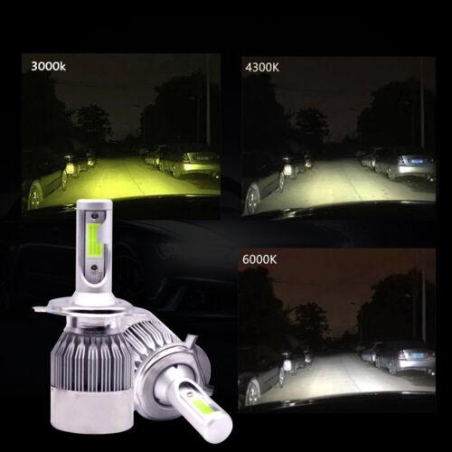 For Toyota FJ Cruiser 07-14  ICE Blue 72W COB LED Headlight High//Low Beams 2pcs
