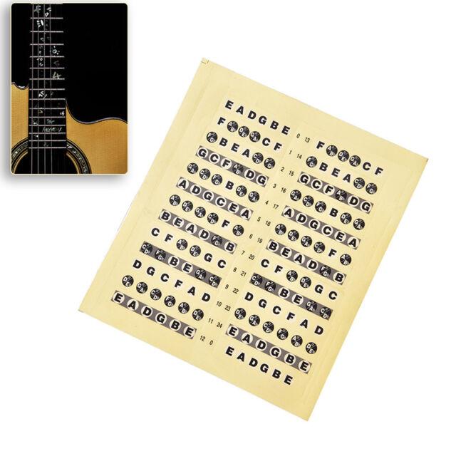 Acoustic Electric Guitar Fretboard Fingerboard Note Sticker Map Frets GuitarraEC