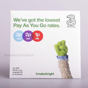 Three-4G-PAYG-Nano-Micro-Standard-TRIO-SIM-Card-Pay-As-You-Go-3-Combi-SIM