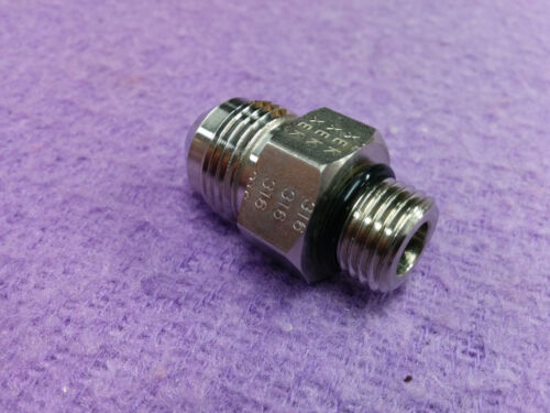 """Parker 8-6 F5OX-SS, 6400-08-06, 8AN SSP Stainless 1//2/"""" JIC x 3//8 O-Ring J8-6GC"""