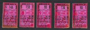 VINTAGE-1952-1953-NEW-YORK-YANKEES-TICKETS-TICKET-STUB-LOT-5-MICKEY-MANTLE