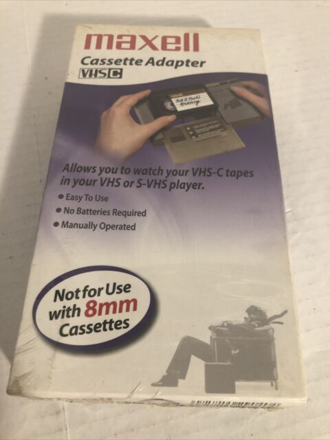 Maxell VHS-C Cassette Adapter VP-CA: Manually Operated, No Batteries Needed
