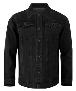 Giubbino-Uomo-Jeans-Giubbotto-Nero-Vintage-Giacca-Slim-fit-Denim-Casual