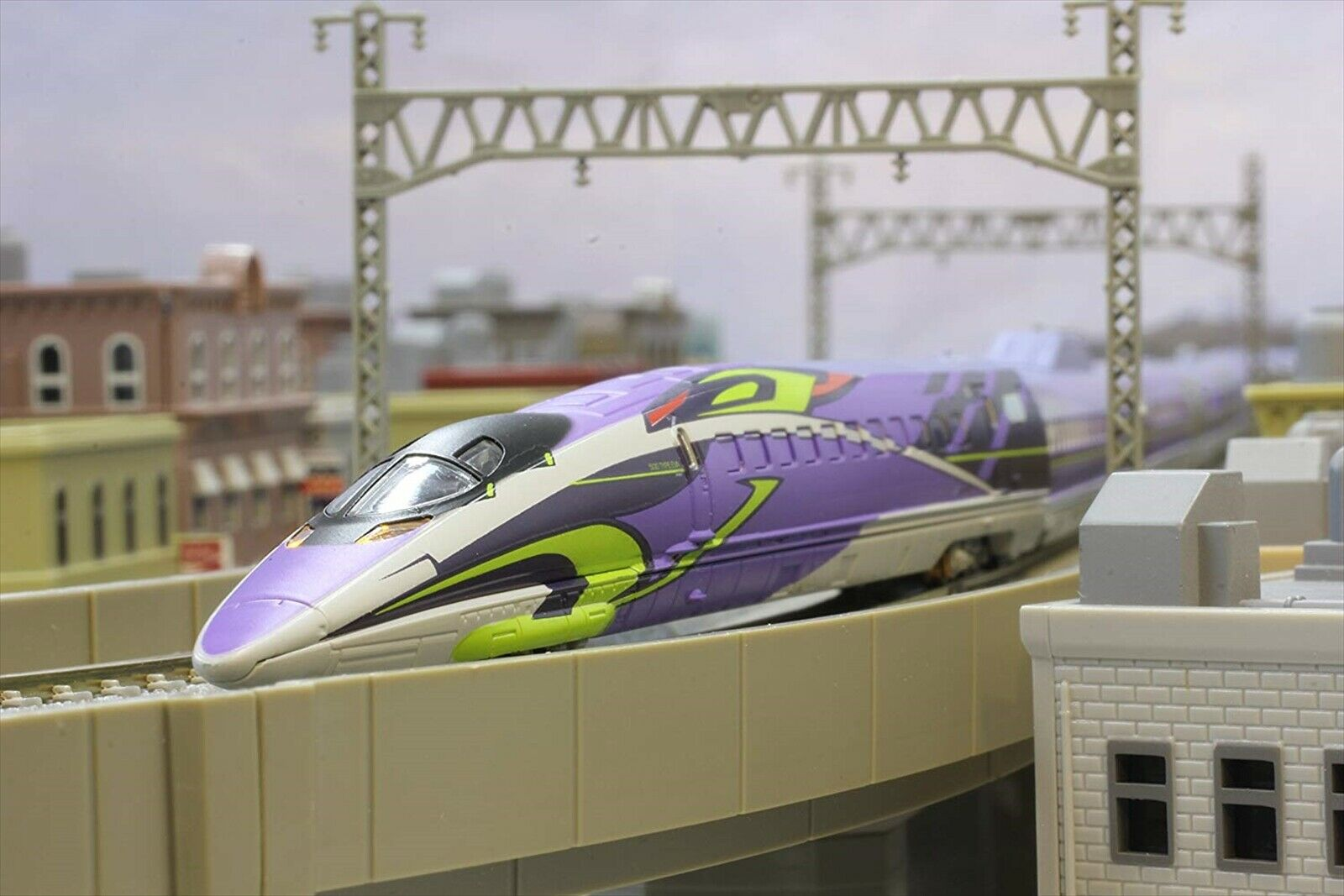 Rokuhan Z Z Z gauge T013-4 Shinkansen Evangelion project 500TYPE EVA 3 both basic se 50847c