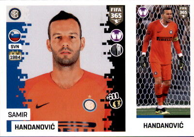 100% Wahr Panini Fifa365 2019 -sticker 208 A/b-samir Handanovic-fc Internazionale Milano