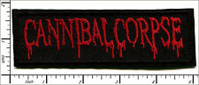"""20 Pcs Embroidered Iron on patches Canibal Corpse Metal Band 5""""x1.56"""" AP056tA"""