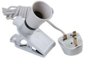 Hand-Clip-Sur-Baionnette-culot-b22-Lampe-Ampoule-Support-Ideal-Pour-Travail-Lumiere-Garage