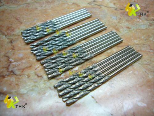 50 pcs 2.2 to 2.3MM THK Diamond coated TWIST drill drills bits jewelry PROMOTION