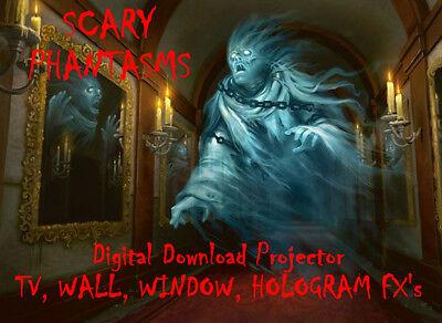 Digital Phantasm In The Window Halloween Decorations ...