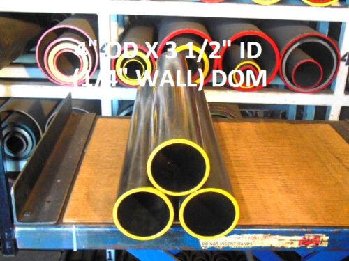 """30/"""" Lg DOM 1026 Mild Steel Tubing   4/"""" OD  x  3.50 /"""" ID .250 Wall"""