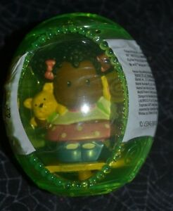 2007-FISHER-PRICE-LITTLE-PEOPLE-SHONDRA-AFRICAN-AMERICAN-DOLL-GREEN-EASTER-EGG