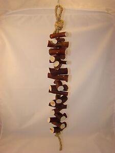 Manzanita Bird Toy Hanging Hardwood Toy 2 feet long 20 pieces of Manzanita