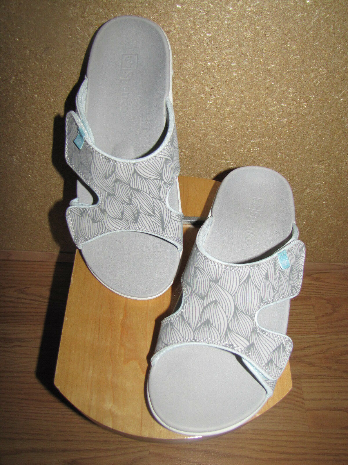 Nuevo Sin Caja Spenco 'ola' 'ola' 'ola' Sandalias ortótica Diapositiva gris - 9 40 europeo  de moda