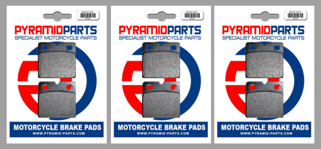 Front & Rear Brake Pads (3 Pairs) for Norton Wankel Classic 1988