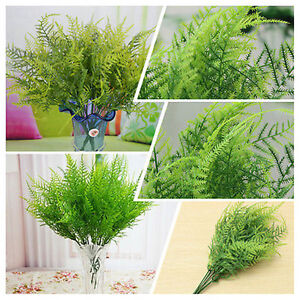 Hot-Fake-Grass-Green-Plant-Flower-7-Branches-Asparagus-Fern-Lifelike-Home-Decor