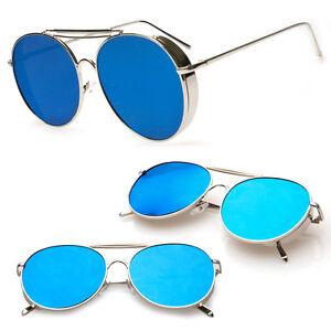b20c12c9e43b Vintage Retro Mirror Round Sun Glasses Metal Goggles Steampunk Punk ...