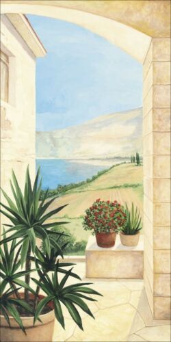 Wandbilder selbstklebend A.S Landschaft Fensterblick Italien Malerei Creme C4SX