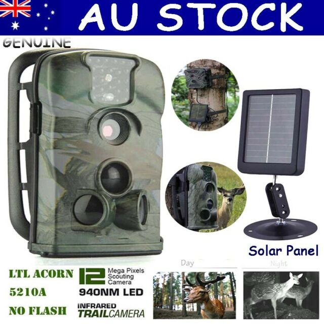 AU Hunting Scouting Trail Camera Wildlife Cam Little Acorn Ltl-5210A+Solar Panel