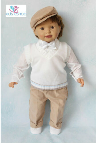 Boys  Outfit Christening Formal Occasion White Beige Knitted Top Tank 0-18M