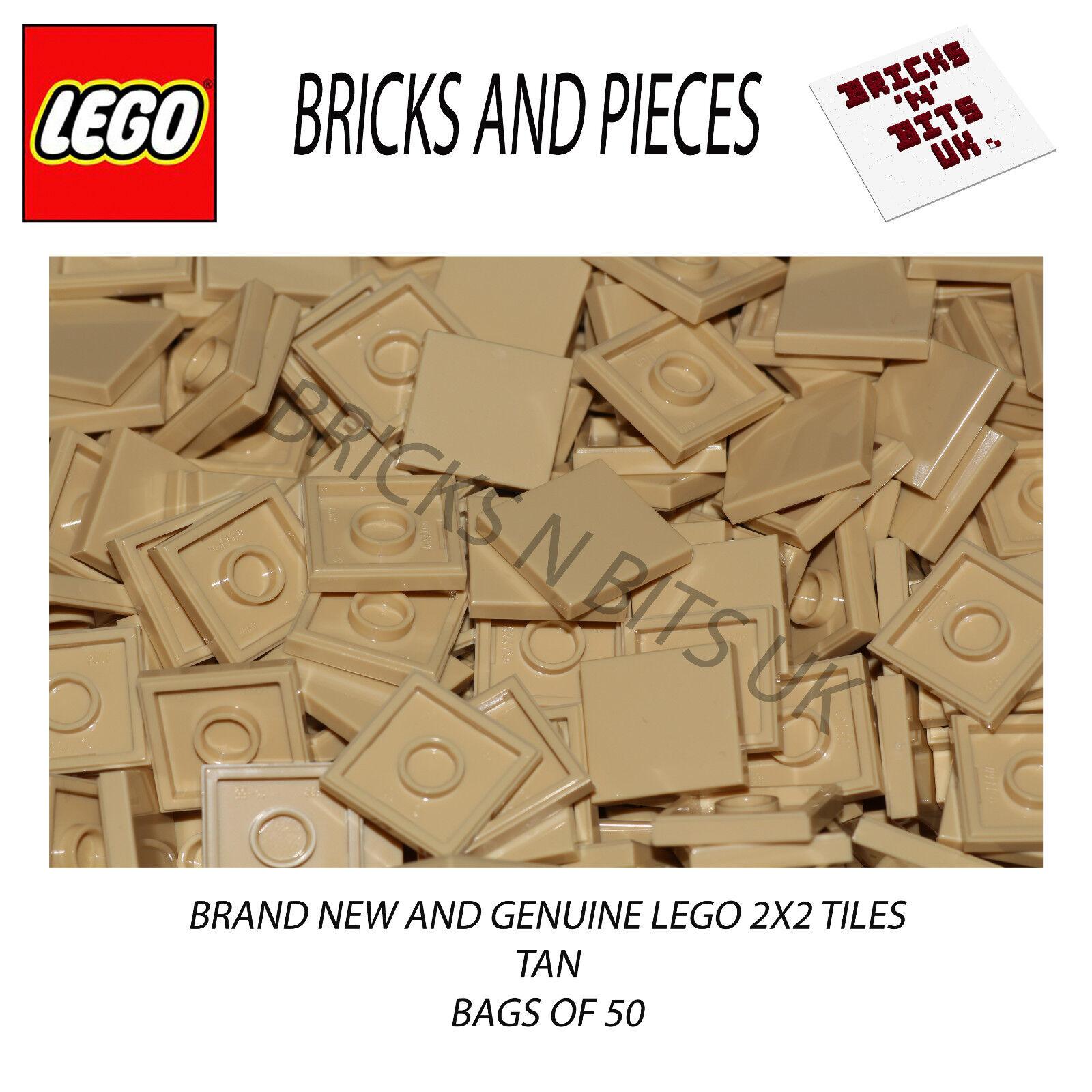 LEGO 2x2 TILE 3068 TAN sacco di 50, città, guerre stellari, creatore, eroi, gli amici