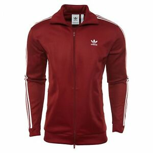 90a21c82b1 Adidas Beckenbauer Track Top Mens CW1251 Rust Red Full Zip Track ...