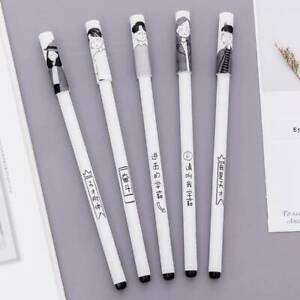 4-Pcs-Portable-Student-Gel-Pen-Black-Ink-Pen-School-Office-Stationery-A