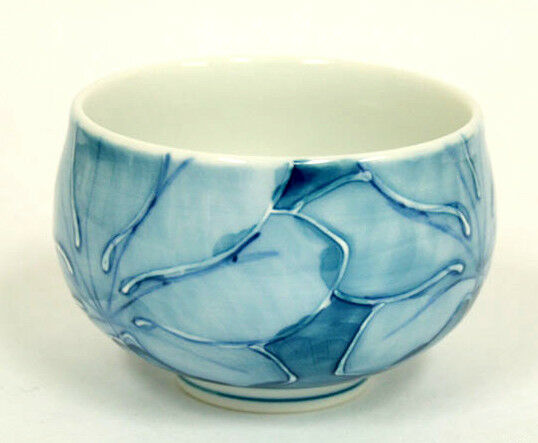 5er Set Japanische Teeschale KOIBASAI Japan Porzellan Teeset Teeset Teeset Ø 8,5, H 5,5 Blau   Grüne, neue Technologie  b08823