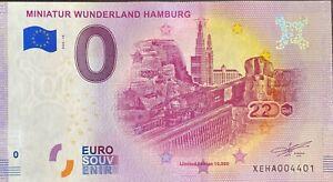 BILLET-0-EURO-MINIATURE-WUNDERLAND-HAMBURG-14-2020-NUMERO-DIVERS