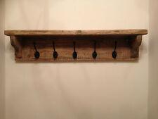 CASA COLONICA shabby chic in legno rustico appendiabiti e Cappello Rack Shelf-HAND MADE