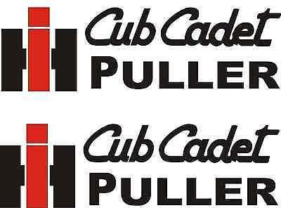 IH CUB CADET HAULER DECALS  2 1//2 X 9 RED /& BLACK