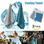 3Pcs ICE Cold Cool Down Towel Gym Sports Fitness Jogging Cooling Chill Cloth US
