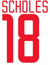 Manchester United Scholes Nameset Shirt Soccer Number Letter Heat Football Euro