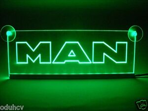 Details about 24V Green LED Cabin Interior Light Plate for MAN Truck Bus  Neon Table Sign Lamp