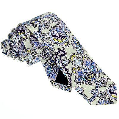 Necktie Set Handkerchief Bowtie Men's Skinny Tie Paisley Wedding Party ZBJ008