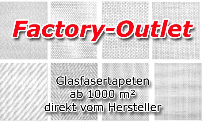 Glasfasertapete 1000m² zu Outlet Preisen