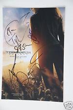 Terminator Genisys Cast Bild 20x30cm  Autogramm / Autograph signed  in Person