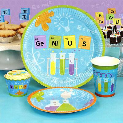 24 Pc Science Party Dessert Plates