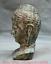7-2-034-Bronze-Ware-Tibet-Bouddhisme-Shakyamuni-Amitabha-Bouddha-Tete-Buste-Statue miniature 5