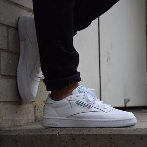 Details zu Reebok Club C 85 Schuhe Sneaker Herren AR0456 Weiß Grün