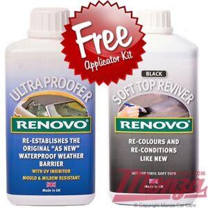 RENOVO-black-convertible-soft-top-capuche-colorant-Reviver-amp-Eau-Etuve-500ml-kit