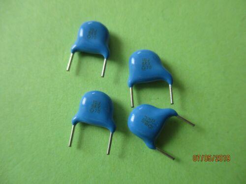 6KV  Lot de 4 condensateurs céramique disque . 10PF 10J