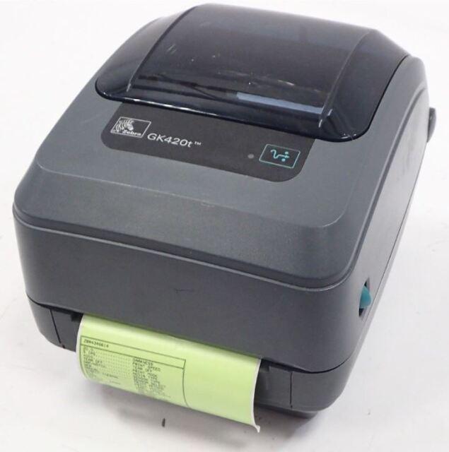 Zebra GK420t Thermal Transfer Barcode Label Receipt Printer + Power Adaptor