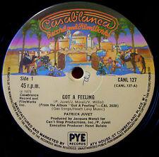 "Patrick Juvet Got A Feeling 12"" UK ORIG 1978 Casablanca Another Lonely Man VINYL"