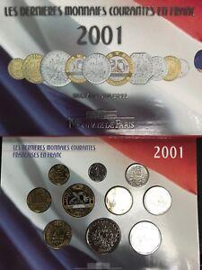 FRANCE-Coffret-BU-2001-La-Monnaie-de-Paris-Brillant-Universel