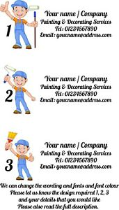 2 x Painter and Decorator Van Car Graphics Decals stickers Advert 1