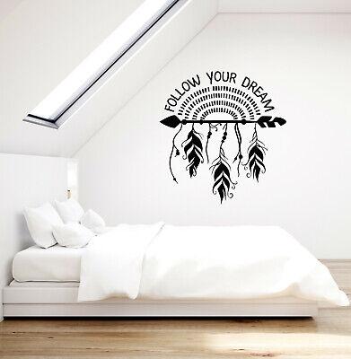 Vinyl Wall Decal Dreamcatcher Arrow Feathers Ethnic Quote Stickers Ig5621 Ebay
