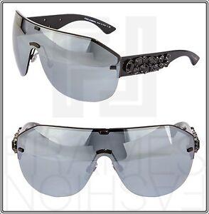 d958ab5bd4e Image is loading Dolce-amp-Gabbana-DG2150B-Black-Wrap-Oversized-Mirrored-